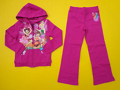 Disney TINKERBELL & FAIRIE FRIENDS Hoodie Sweatsuit Shirt Pant Size 6 *NEW*