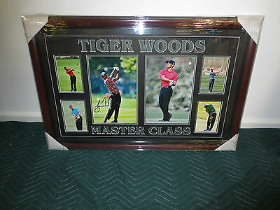 Framed Tiger Woods Authentic Signed Photo Collage