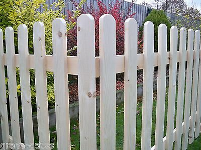 3ft High - FREE STANDING Planed Smooth Wooden Picket Fence Panels Including Feet