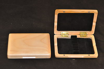 Solid Maple Wood Oboe reed case for 6 reeds ( Brand new )