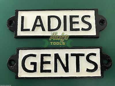 Toilet Signs LADIES and GENTS Door Sign Cast Iron for Shop Pub Cafe Home  MT17