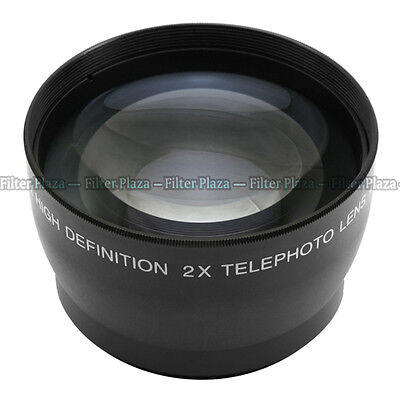 58mm 2.0X Magnification Telephoto Tele Converter Lens for Digital Camera 2X 58