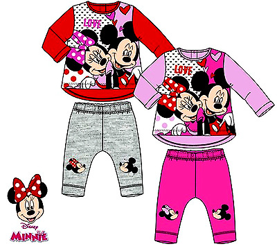 Kids Baby Girls Clothes Minnie Mouse Sweatshirt Top Pants Tracksuit Outfits Sets