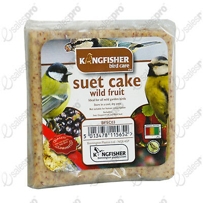 Suet cake wild bird food feed feeder WILD FRUIT seed 1 or 2 savings FREE P+P