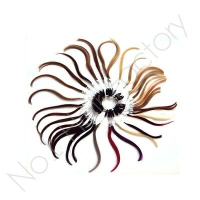 New 100% Human Remy Hair Extension Colour Ring With 36 Colours