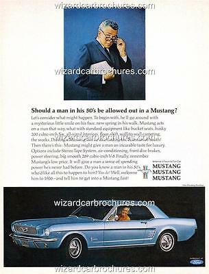 1966 Ford Mustang A3 Poster Ad Sales Brochure Mint Advertisement Advert