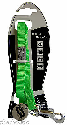 Laisse chat Basic line Verte - 1,20 M (124944VE)