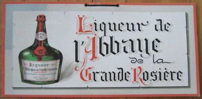 1920 French Litho Advertising Sign/Poster - 'Liqueur de l'Abbaye'