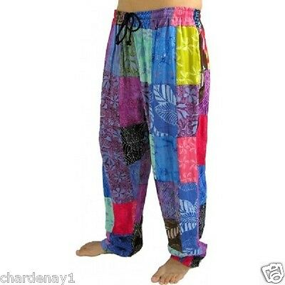 New Gypsy Pants Drawstring Patchwork Unisex Free Size