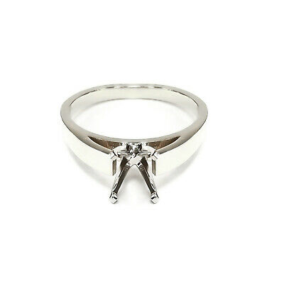 Palladium Cathedral Diamond Engagement Ring Solitaire Setting
