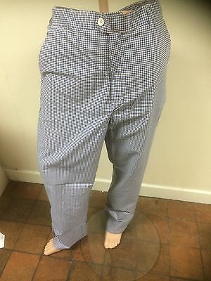 Chef Trousers - Mens - Blue & White Small Check
