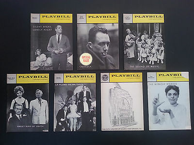 7 Vintage Original Playbills from Broadway theatre productions 1960  INV1921
