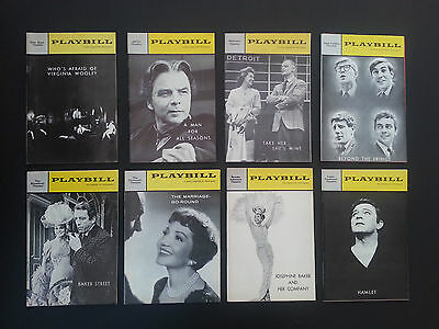 8 Vintage Playbills from Broadway theatre productions 1960-65 - Set 4, Inv. 1922