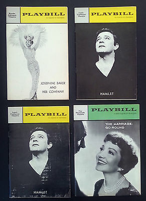 4 Vintage Original Playbills from Broadway theatre productions 1960-64 INV1923