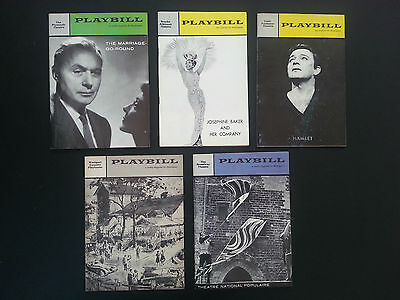 5 Vintage Playbills from Broadway theatre productions 1958-64 - Set 6, Inv. 1924