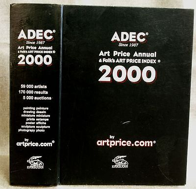 ADEC Art Price Annual & Falk's Art Price Index 2000 in very good condition