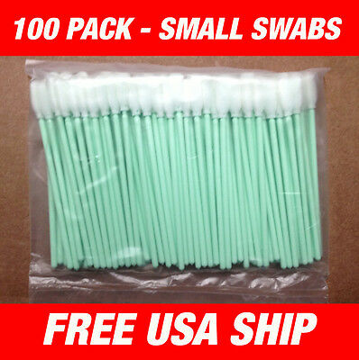 USA - 100 pcs Small Foam Cleaning swabs - Roland Soljet, Cammjet -USA Ship!