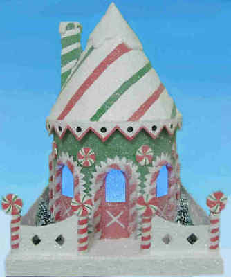 Tasty Town Hall - Old Fashiones Cardboard Candy House