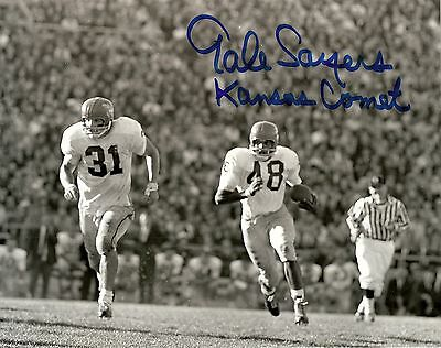 Gale Sayers Ip Auto Signed 8X10 Photograph Kansas Comet Chicago Bears!!