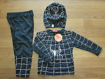 NEW Spiderman BLACK costume COSPLAY Sizes 2-10