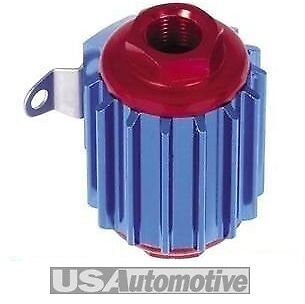 Aluminium In Line Fuel Filter - Anodized Red/Blue, S6016