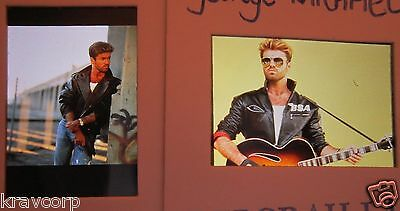 George Michael—Two 1989 Color Photo Slides