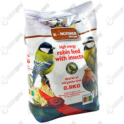 Bird feed food robin feed high energy insects .9kg bags (c 2lb) 1 or 2 bag deals