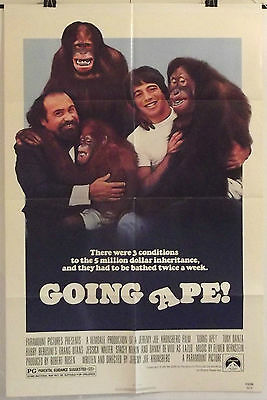 GOING APE! - TONY DANZA / DANNY DeVITO - ORIGINAL AMERICAN 1SHT MOVIE POSTER