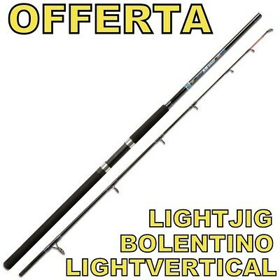 canna da pesca bolentino traina light jig vertical spinning per mulinello carbon