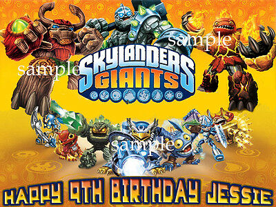 SKYLANDERS Giants Edible CAKE Image Icing Topper FREE SHIPPING