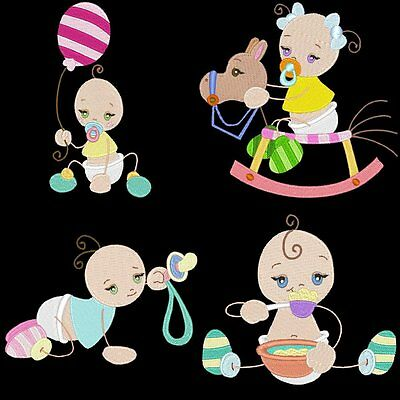 Sticky Babies - 20 Machine Embroidery Designs (Azeb)