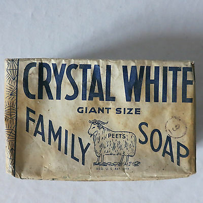Vintage COLGATE-PALMOLIVE-PEET CO. CRYSTAL WHITE Giant Size Family Soap