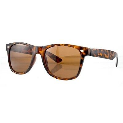 Vintage HORN RIMMED SUNGLASSES TORTOISE BROWN,TURTLE SHELL,BROWN, retro,80's-NEW