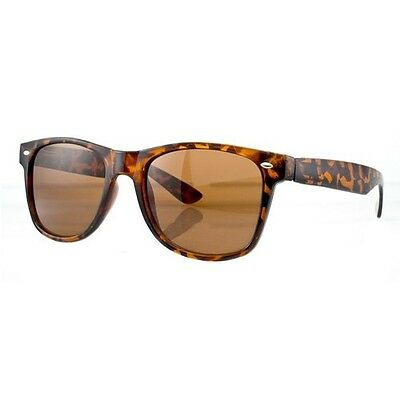 Vintage WAYFARER SUNGLASSES TORTOISE BROWN,TURTLE SHELL,BROWN, retro,80's-NEW