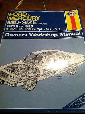 Ford & Mercury Mid-Size Models 1975-1986 Owners Workshop Manual #773