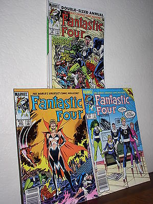 Marvel - Fantastic Four #281 & #286 & Double-Sized Annual #19 1985