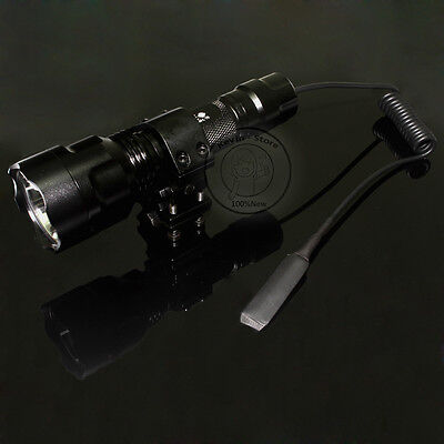 Ultrafire C8 Tactical 18650 CREE XM-L T6 LED 5Mode 1000L Flashlight Torch Mount