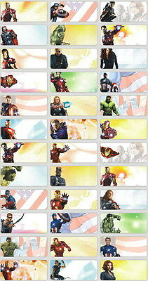 120 Avengers Picture personalised name label (Small size)