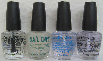 OPI 4 Mini Nail Polish Treatment Set ~ Chip Skip Nail Envy RapiDry Top Coat NEW