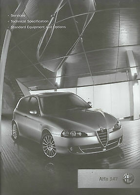 Alfa Romeo 147 Turismo Q2 Lusso 2007 Technical Specification Brochure 10 Pages