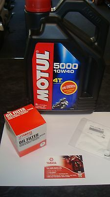 New Yamaha FZ6 Genuine Service Kit Oil Filter Motul Oil FZ 6 N S2 FAZER