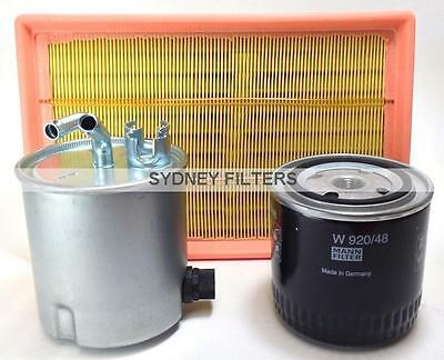 FILTER KIT to suit NISSAN NAVARA 2.5L TURBO DIESEL D40 YD25 SPAIN (AIR OIL FUEL)