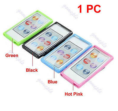 New Ultra Thin TPU Case Cover With Belt Clip For Apple ipod Nano 7 7G 7th Gen
