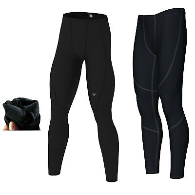 Mens compression Thermal Base layer long pants legging running fitness pant