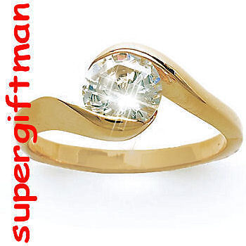 X023 - BAGUE OR DOUBLE AM. / ring goud  DIAMANT CZ T60