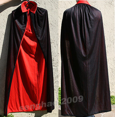 Halloween Vampire Bloodsucker Unisex Two-Sided Cape Cloak Party Custome Dress