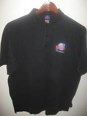 Planet Hollywood San Francisco Vintage 1990s Embroidered Logo Faded Polo Shirt L