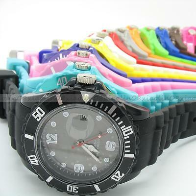 13 X FASHION GIFT Wrist with DATE Unisex Watch Silicone Jelly Candy Sport Quartz