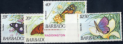 Barbados 1983 Butterflies set. SG 718-21. UM/NH