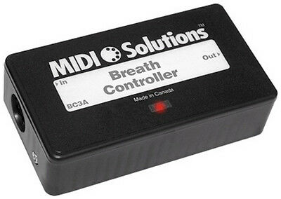 Midi Solutions Breath Controller Program for Aftertouch, Pitch Bend and More